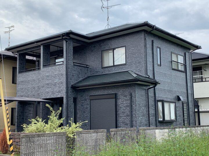 【香川県高松市】 S様邸 外壁・屋根塗装工事(タイル調仕上げ含む)