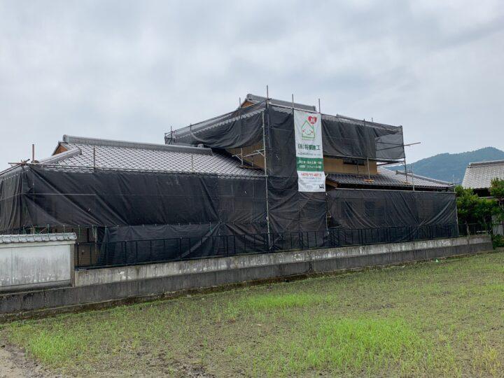 【香川県三豊市】S様邸 外壁塗装工事/外塀塗装