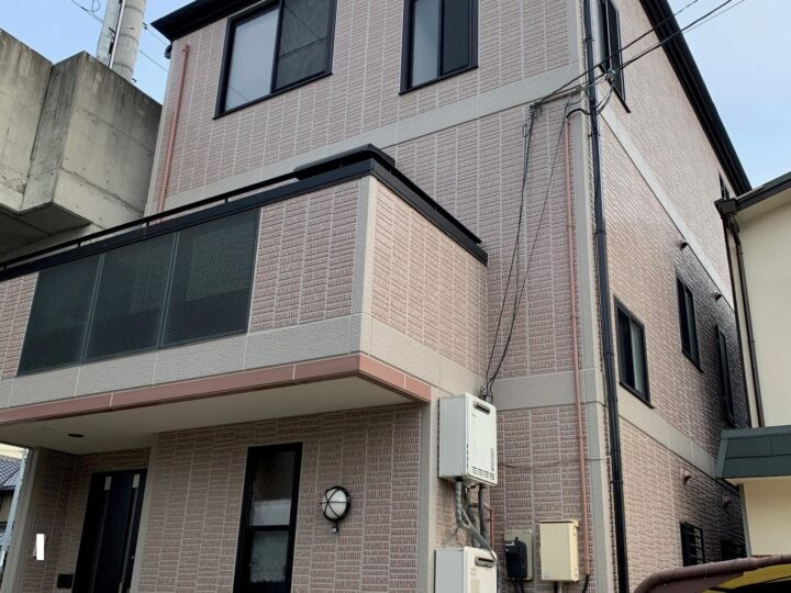 【香川県丸亀市】M様邸 外壁・屋根塗装工事(タイル調仕上げ含む)