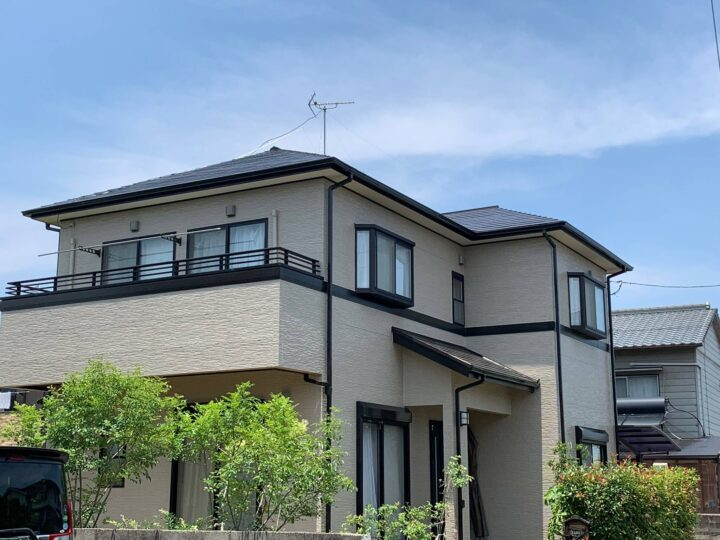【香川県高松市】K様邸 外壁・屋根塗装工事/ベランダ防水工事